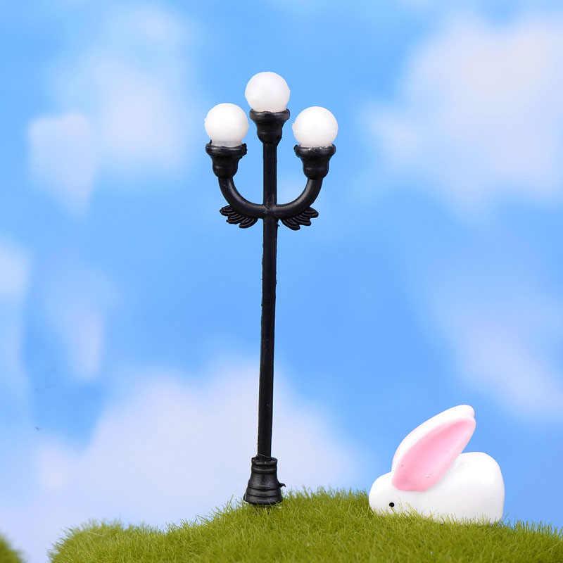 1 Аппликации Ремесло Мини Лампа уличного освещения антикварная имитация сказочного сада домашний миниатюрный Террариум Декор микро пейзаж