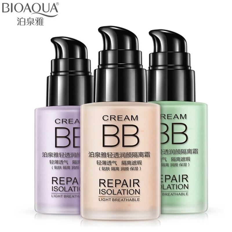 BIOAQUA Facial Repair Cosmetic set Base Breathable Cover Pore Acne Whitening BB Cream Moisturizing Natural Pure Skin Care Makeup