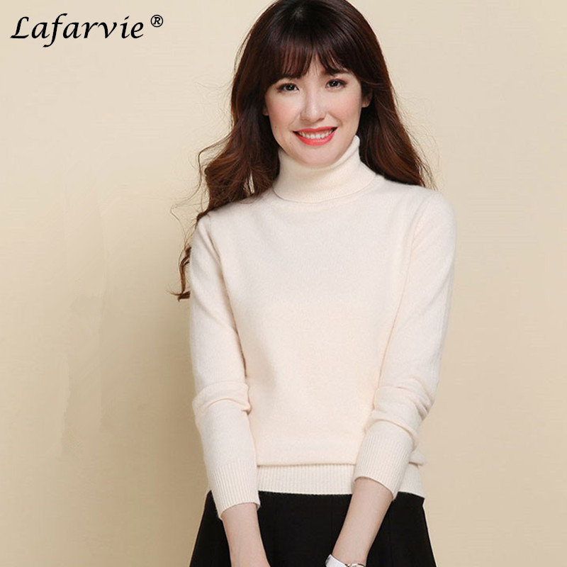 Lafarvie Slim Cashmere Blended Gebreide trui Dames Tops Kwaliteit - Dameskleding - Foto 3