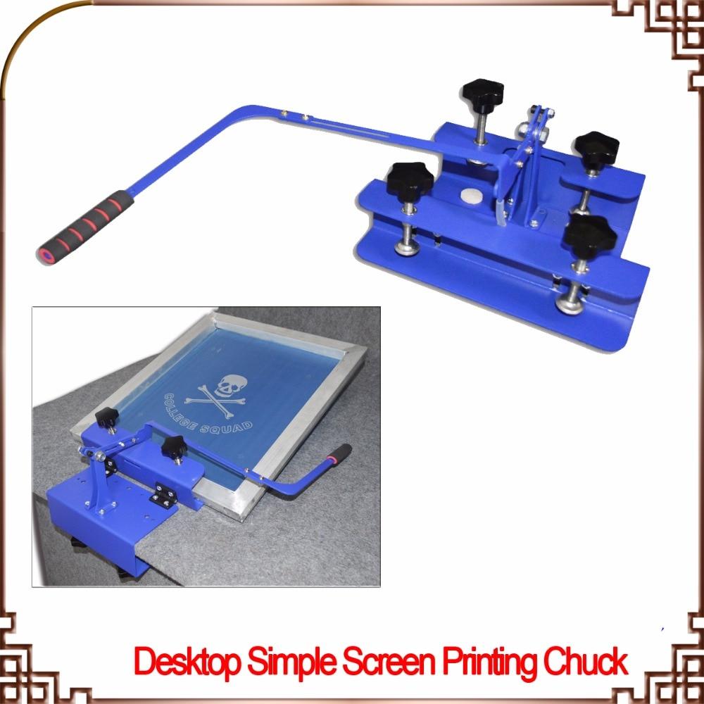 все цены на Free shipping Desktop Simple Silk Screen Printing Chuck T-shirt Printer Head DIY