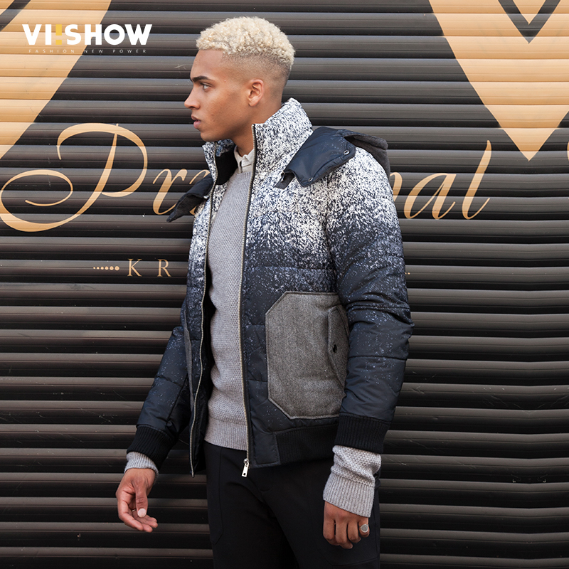 VIISHOW New Winter Jacket Men Warm Cotton Padded Coat Mens Casual Hooded Jackets Handsome Parka Outwear Men jaqueta masculino 2016 new long winter jacket men cotton padded jackets mens winter coat men plus size xxxl