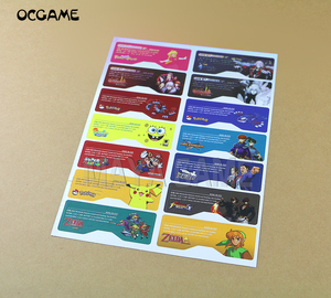 Image 2 - 1set=14pcs Customer Design for GBA SP Label Sticker Lable For GBA SP Console Back Tag