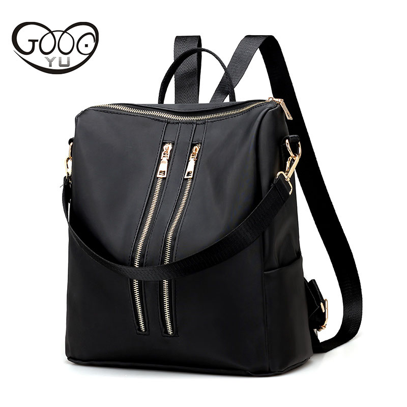 Fashion Oxford shoulder bags solid color waterproof large capacity backpacks multi functional Zipper decoration women