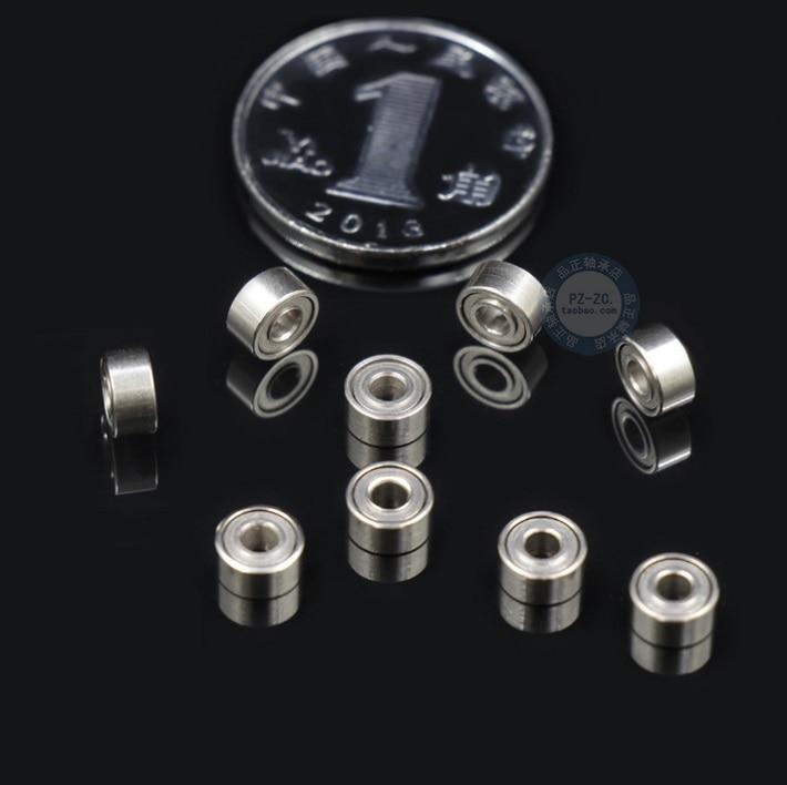 10pcs 682ZZ 681 1*3*1mm 681X 1.5*4*1.2mm 681XZZ 1.5*4*2mm 682ZZ 2*5*2.3mm Bearing Shielded Deep Groove Ball Bearings Miniature