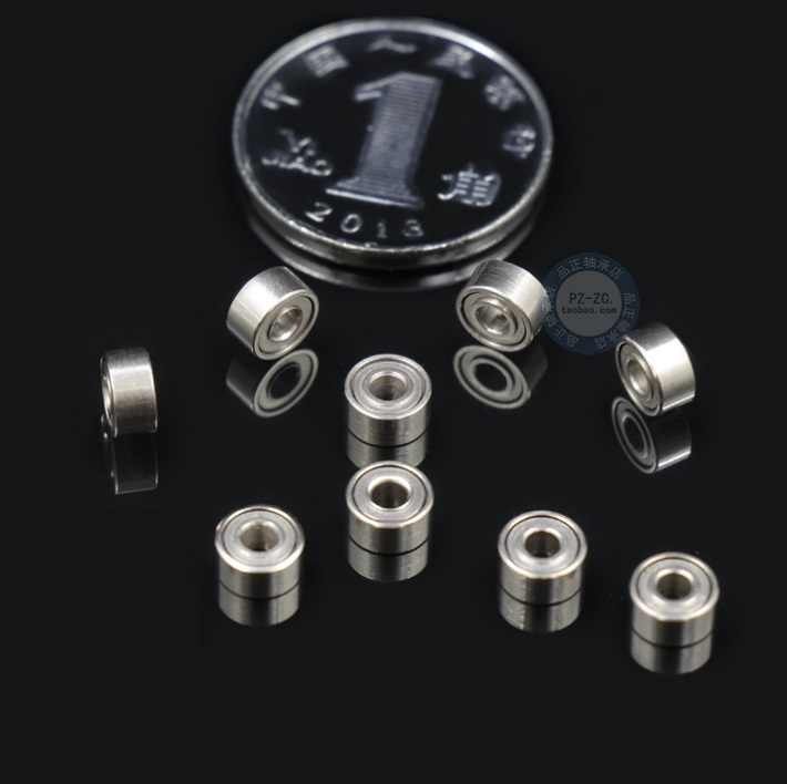 10pcs 682ZZ 681 1*3*1mm 681X 1.5*4*1.2mm 681XZZ 1.5*4*2mm 682ZZ 2*5*2.3mm Bearing shielded deep groove ball bearings Miniature