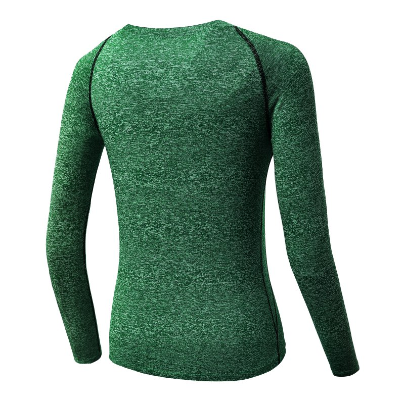 Women Long Sleeve Sports Compression T-Shirt Quick-Dry Gym Yoga Running Tops Tee 4