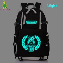 40638a173ec4 Anniversary Super Mario Bros Luminous Backpack College Student Schoolbag Women  Men Casual Travel Bags Large Laptop Backpack