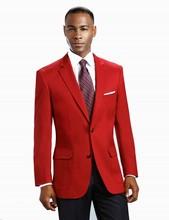 New Style Groomsmen Notch Lapel Groom Tuxedos Two Buttons Men Suits Wedding Best Man (Jacket+Pants+Tie+Hankerchief) B907