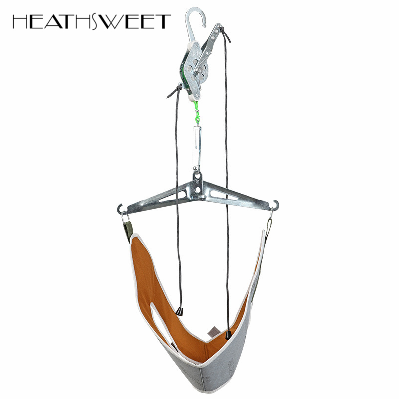 Healthsweet Over Door Neck Pain Relief Massager Cervical Traction Device Kit Neck Back Stretcher Adjustment Chiropractic Head new design product good neck hammock for neck pain relief neck relief fatigue door handle hanging head neck hammock