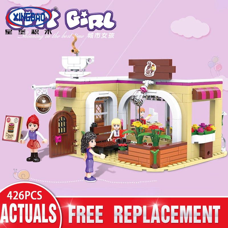 XINGBAO 12011 Friend Girls The School Convenience Store Set Princess Series Building Blocks Bricks Toy For Girls