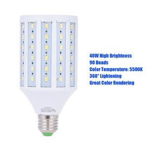 Image 4 - Andoer фото студия фотографии 40 Вт светодиодсветодиодный лампа Кукуруза лампа 90 бусин 5500K E27