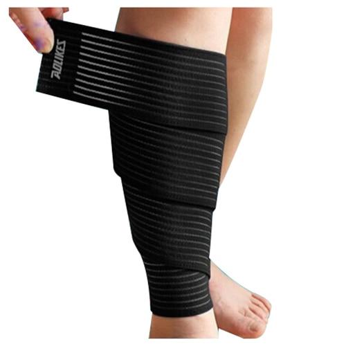 AOLIKES Sports Wrap-around Calf Support Bandage Knee Bandage Leg Skin Protection Band Brace Belt 1pcs black