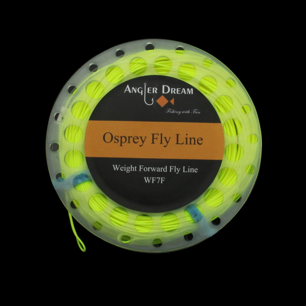 FLY LINE 3 wt WF3F 3 Weight Forward Floating Free 20 lbs Backing Moss Green