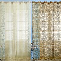 1pc Europe Style Floral Pattern French Window Curtain Household Window Curtains Tulle Fabrics Organza Sheer Panel