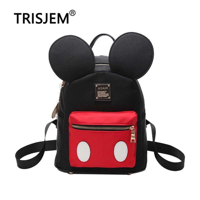 50b357712e6 Las mujeres lindo oídos mochila Minnie mujer escuela bolsa de Nylon niños  bolsa de paquete Mini BOLSA bolsa mochilas para las niñas 2019 en Mochilas  de ...