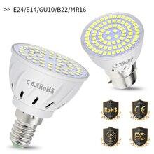 MR16 Led Spotlight E27 Corn Light Bulb E14 Bombillas 48 60 80leds Spot Bulb 4W 6W 8W GU10 Led 220V Lamp For Indoor B22 SMD 2835 цена в Москве и Питере