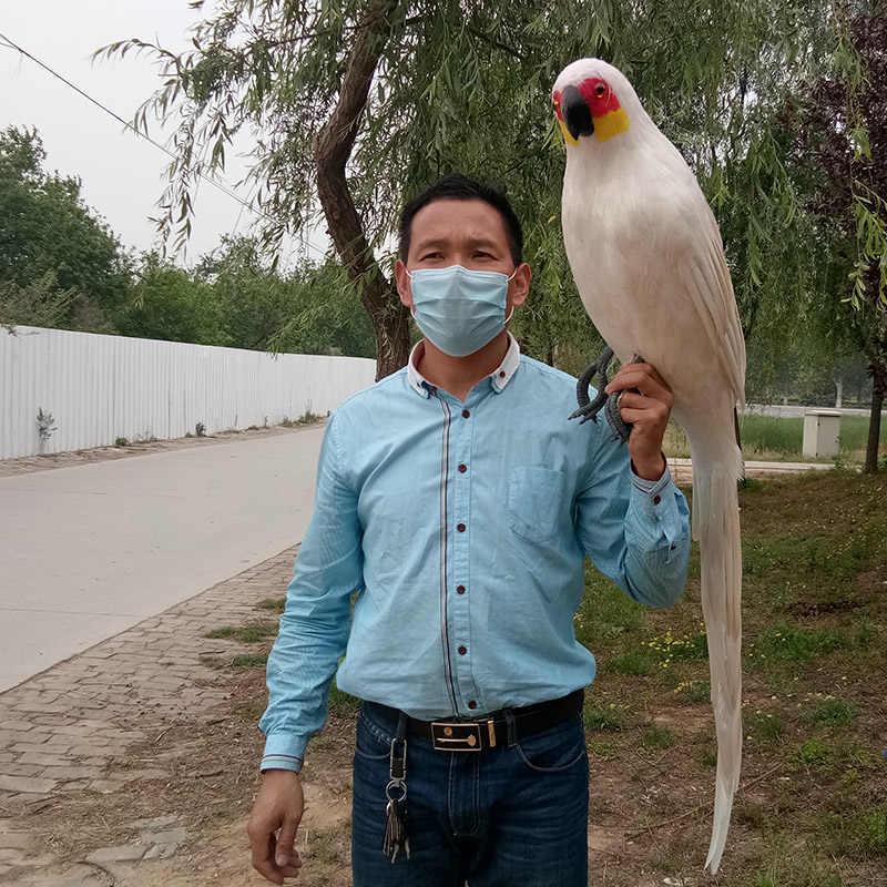 Большой Новый Моделирование Белый попугай модель полиэтилен и меха попугай игрушка подарок около 120 см 0458