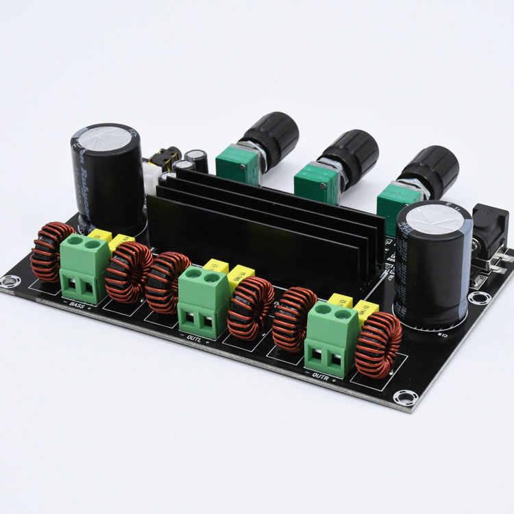 M573 TPA3116 D2 80Wx2 + 100 W 2,1 канальный аудио цифровой Мощность Плата усилителя басовый сабвуфер с NE5532 предусилитель