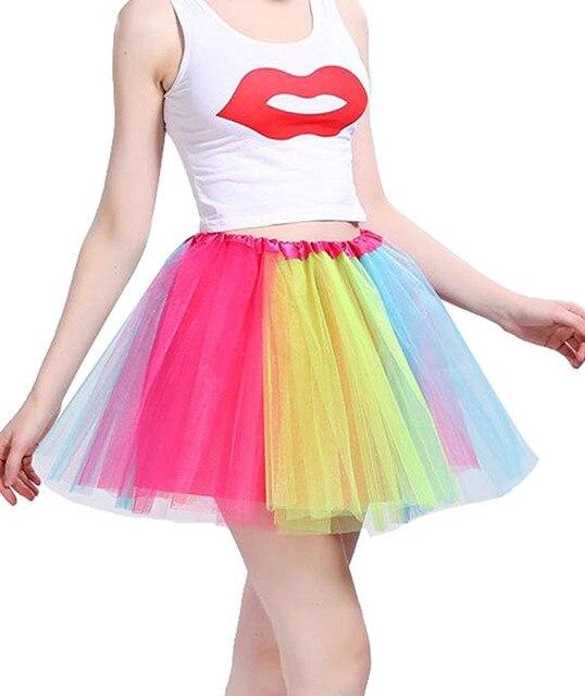 Us 3 56 21 Off Hot Lots Of Colors Tutu Skirt Women Ballet Dance Tutus Mini Chiffon Skirt For Women Ball Gown Design Dance Skirt Party 2018 In