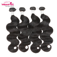 Remy Indian Body Wave Hair Extensions 100% Human Hair Weave Bundles 1/3/4Pcs Natural Color 8 To 28 30 Inch Free Fast Ship