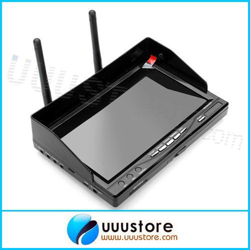 RC732-DVR All-in-one 7in 800*480 HD LCD FPV Monitor Built-in Battery and 32CH 5.8G Wireless Diversity Receiver 2pcs fpv 7 inch monitor displayer pvr 732 built in battery dual 32ch 5 8ghz diversity receivers hd screen free shipping