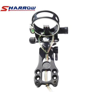 Sharrow 5-Pin Compound Bow Sight Black TP6550 Right Hand Hunting Shooting Archery Accessory
