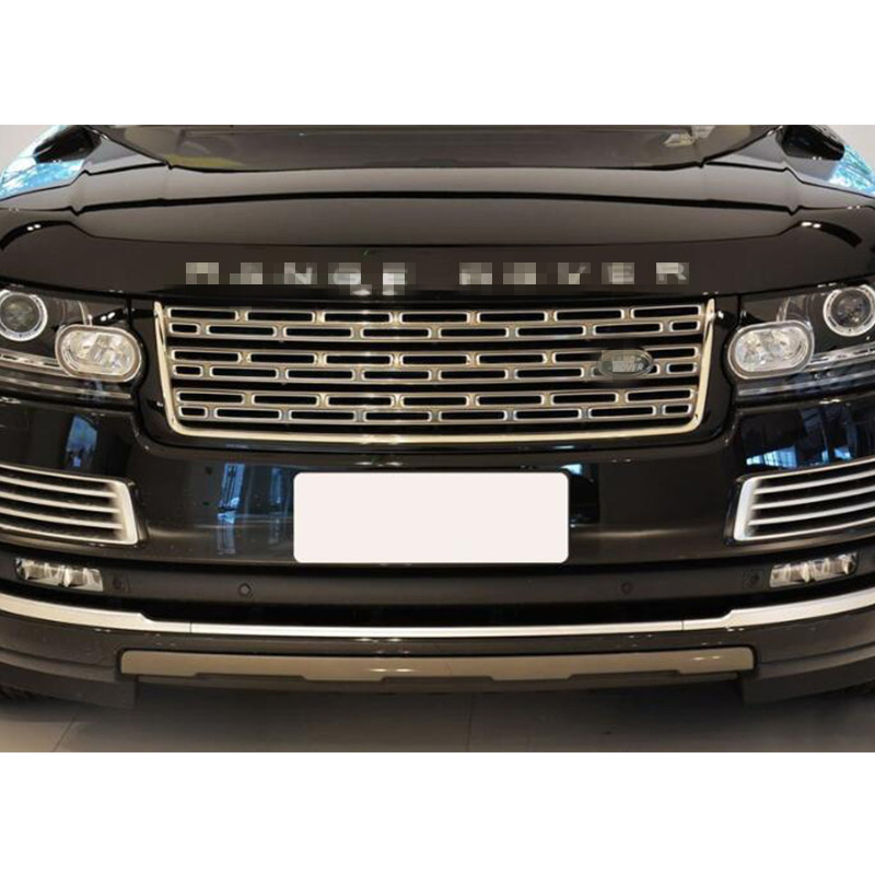 Silver Front Bumper Hood Center Grille for Land Rover Range Rover Vogue 2014 2015 2016 все цены