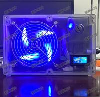 DIY sistema de refrigeração de água refrigerador portátil notebook grande fluxo de bombas do tanque de água do radiador ventilador Integrado tipo shell Transparente