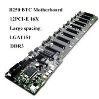 B250 LGA 1151 SATA3.0 12 x pci e X16 cards direct connector of the motherboard DDR3 sockets honey comb integrated Processo min