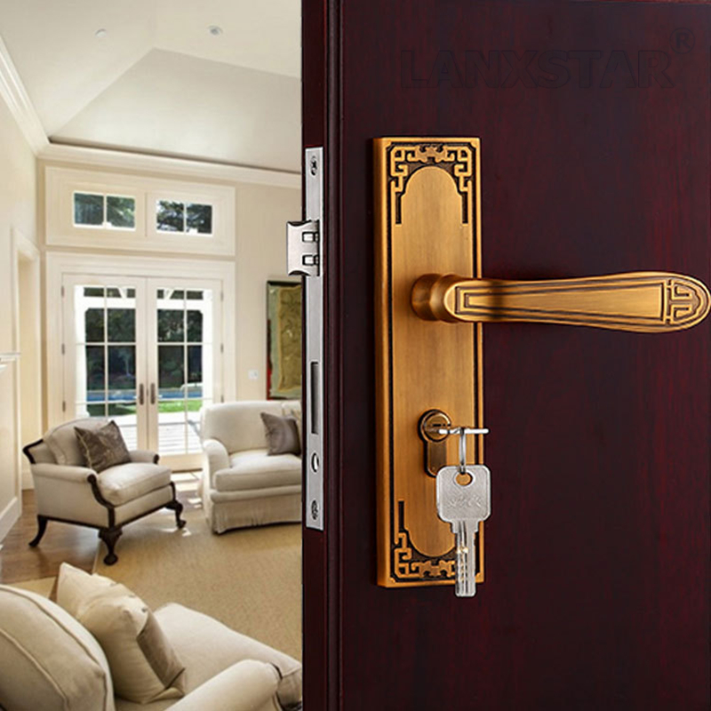 Factory Direct Supply High Quality Zinc Alloy Handle Lock European Style Wooden Door Lock A Grade Refined Mechanical Mute Locks крем garnier ambre solaire эксперт защита spf 50 50мл