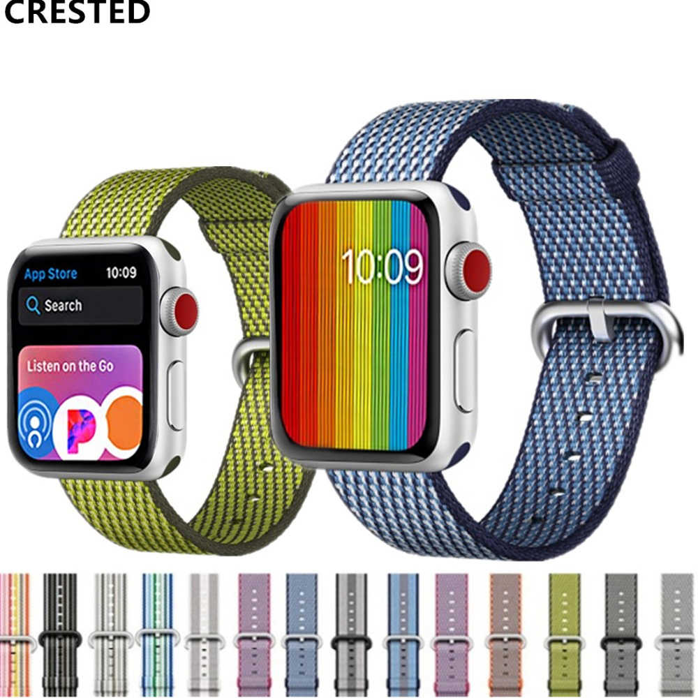 Nato Strap For Apple Watch Band apple watch 4 3 band42mm 44mm correa iwatch band 38mm 40mm pulseira Woven Nylon Bracelet belt