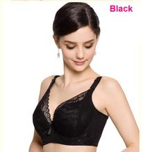 New Plus size full coverage push up bra sexy lace bra cotton intimate brassiere thin cup