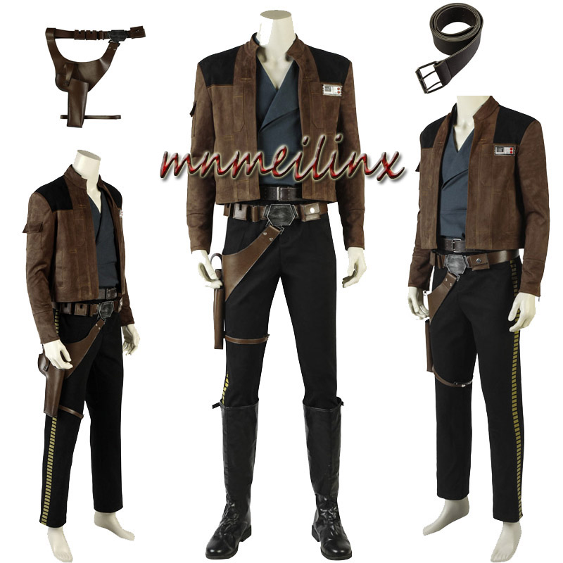 New Exclusive Star Wars Story Cosplay Solo Cosplay Costume Halloween Suit Shoes Accessories