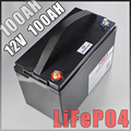 12 V 100AH lifepo4 batterij Met bms 10A Charger camping backup omvormer RV boot inverter light Solar