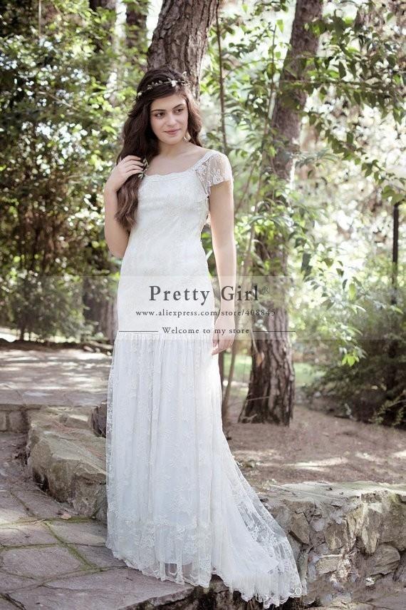 casamento romantic lace boho wedding dresses 2015 new plus size vestido de noiva bohemian fashionable wedding gowns bridal dress in wedding dresses from