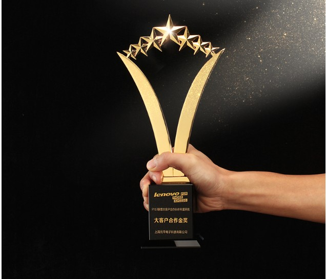 Top Quality!2018 New Five-pointed Star Metal Resin Trophy Gold Silver Copper Crystal Trophy Free Printing,Free Shipping