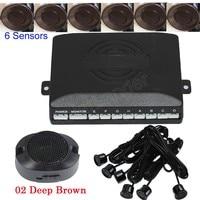 Car auto Parking Sensor Reverse Backup Radar sound alert System 6 Sensors sound alert buzzer 44 colors for choice