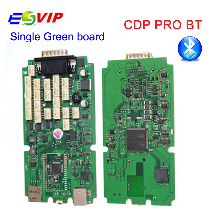 A++ Quality Newest 2016.00/ 2015 R3 keygen Bluetooth Single green Board TCS CDP Pro For Cars/Trucks for Auto Car Scan Tools