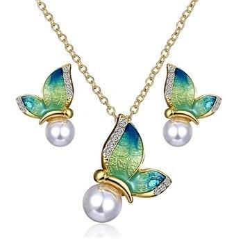 Women's Butterfly Design Jewelry Set Hot Promotions Jewelry Jewelry Sets Women Jewelry Metal Color: 3