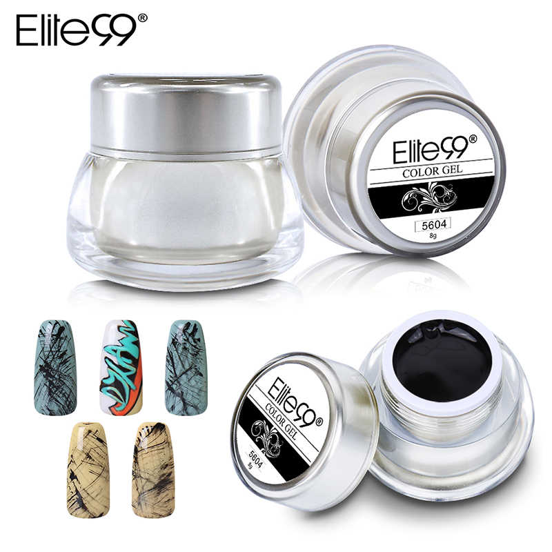 Elite99 12 สีสีอะคริลิคเจล 3D สีเล็บเจลสีวาดภาพวาดสีอะคริลิค UV เจลเคล็ดลับ DIY เล็บ Art