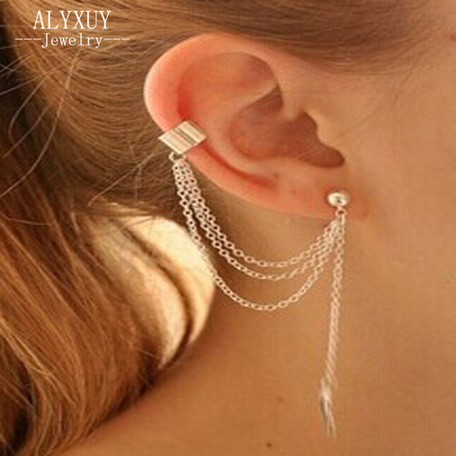 New Fashion Accessories Summer Jewelry Leaf Clip Earring For Women Nice Gift Whole E2672