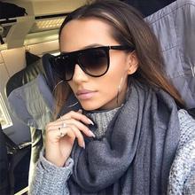Square Sunglasses Woman Luxury Brand Design Retro Flat