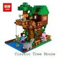 Lepin mi mundo tree house minecraft steve figuras bloques de construcción ladrillos juguetes para los niños regalo