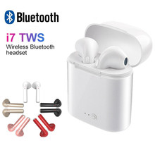 Factory Sale Quality I7s Tws Wireless Bluetooth Earphone Stereo Earbuds Headset With Charging Box For Smart Phone Super Pods