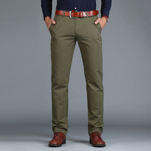 Vomint 2018 New Men's Pants Straight Loose Casual Trousers Large Size Cotton Fashion Men's Business Suit Pants Green Brown Grey