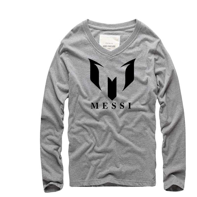 Marca de moda 100% Algodón Barcelona MESSI Impreso Hombres camiseta - Ropa de hombre - foto 4