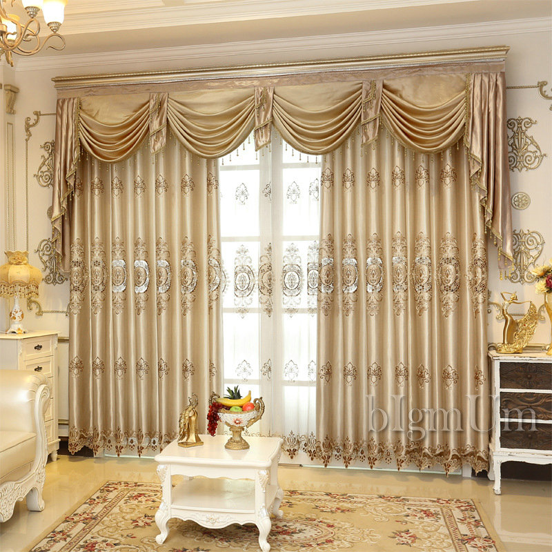 Embroidered Luxury Window Curtains For Living Room