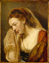 A Woman Weeping Painting