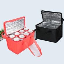 Складная сумка-холодильник для пикника, ланча, для бутылки, еды, сохранения свежести, изоляционная, переносная, термальная сумка, водонепроницаемая, утолщенная, для напитков, для льда