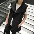 2017 new Men Cotton big collar vest coat men fashion casual top men Sleeveless waistcoat punk locomotive vest jacket K642